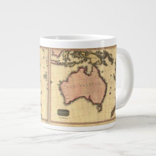 1818 mapa de Australasia - Australia, Nueva Zeland Taza Jumbo