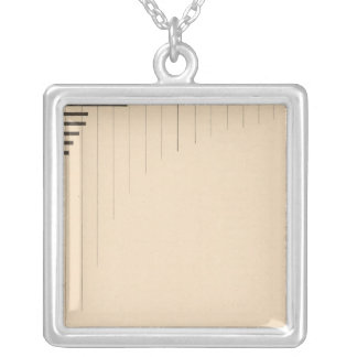 181 Capital by states, groups Silver Plated Necklace