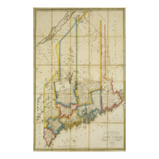 1820 Map of the State of Maine Poster