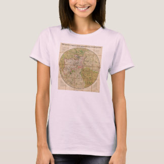 1820 Mogg Pocket or Case Map of London England T-Shirt