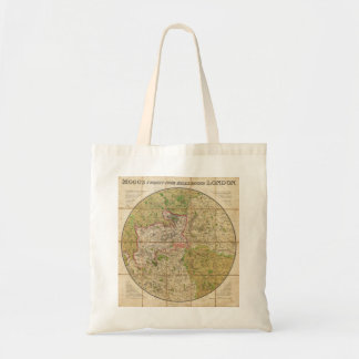 1820 Mogg Pocket or Case Map of London England Tote Bag