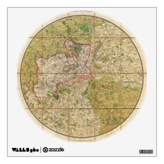 1820 Mogg Pocket or Case Map of London England Wall Decal