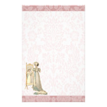 1822 Regency Era Court Dress Stationery
