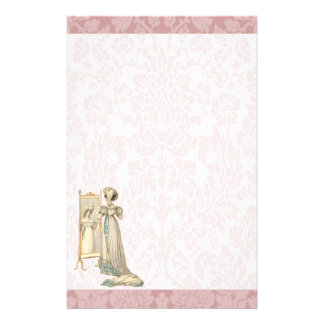 1822 Regency Era Court Dress Stationery