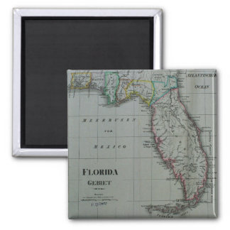 1823 Florida Map Magnet