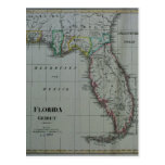 1823 Florida Map Postcard
