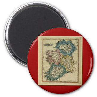 1823 Ireland map by Lucas Fielding Jr 2 Inch Round Magnet