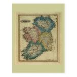 1823 Ireland map by Lucas Fielding Jr Postcards