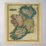 1823 Ireland map by Lucas Fielding Jr Poster