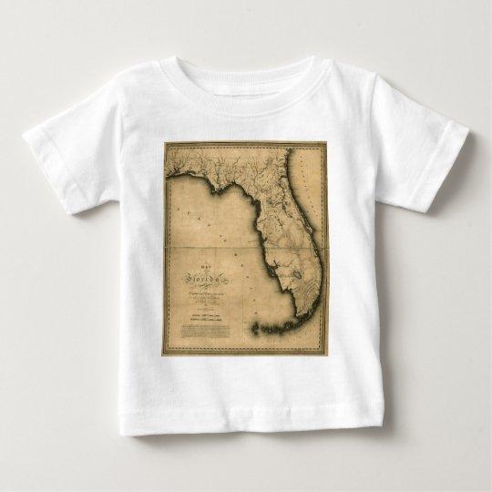 1823 Map of Florida Baby T-Shirt