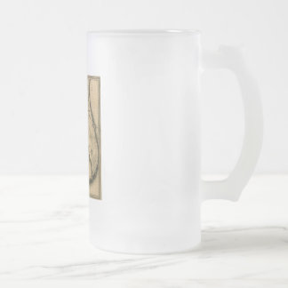 1823 Map of Florida Frosted Glass Beer Mug