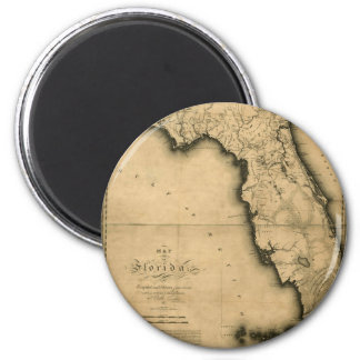 1823 Map of Florida Fridge Magnets