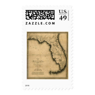 1823 Map of Florida Postage Stamp