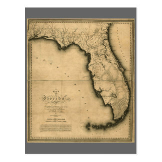 1823 Map of Florida Postcard