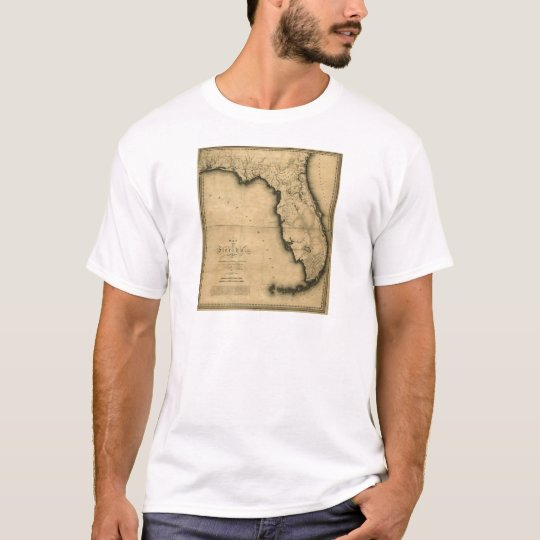 1823 Map of Florida T-Shirt