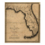 1823 Map of the Florida Poster