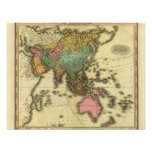 1825 Map of Asia by Henry Tanner Personalized Invitation