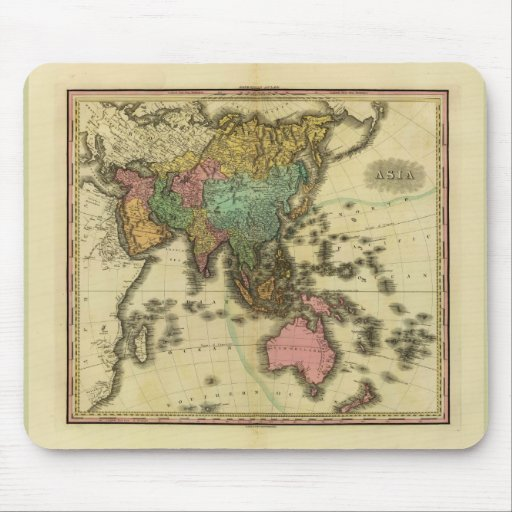 1825 Map of Asia by Henry Tanner Mouse Pad