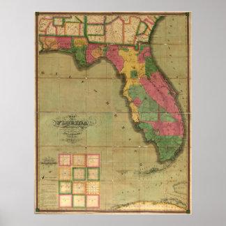 1829 Map of Florida Poster
