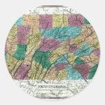 1829 Pennsylvania Map Stickers
