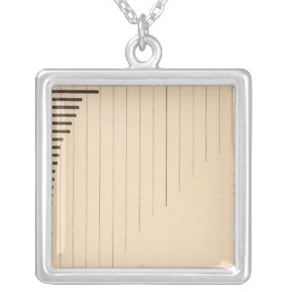 182 Wage earners by states, groups Square Pendant Necklace