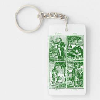 1831 Races of Mankind Keychain