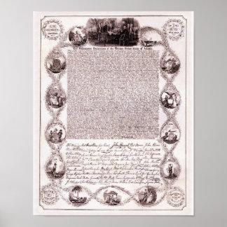1831 steel engraving - July 4, 1776 Print