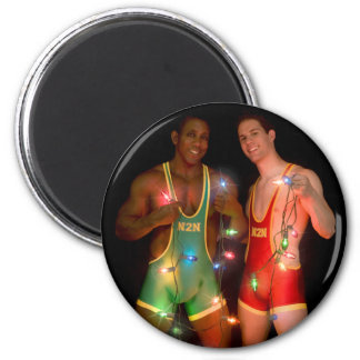 18346 Christmas 2 Inch Round Magnet