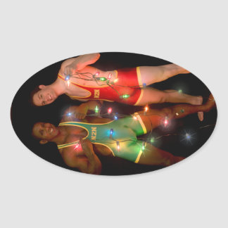 18346 Christmas Oval Sticker