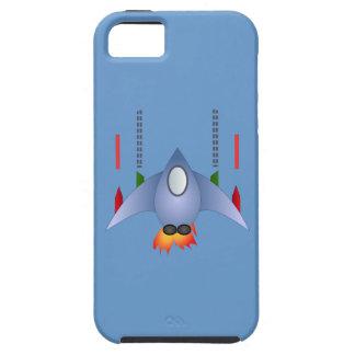 18355-space-ship-vector KIDS SPACESHIP CARTOON FLI iPhone 5 Case