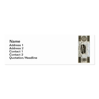 1837 Canadian Railroad Currency Double-Sided Mini Business Cards (Pack Of 20)