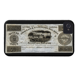 1837 Canadian Railroad Currency Case-Mate iPhone 4 Cases