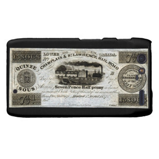 1837 Canadian Railroad Currency Motorola Droid RAZR Covers