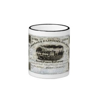1837 Canadian Railroad Currency Coffee Mugs