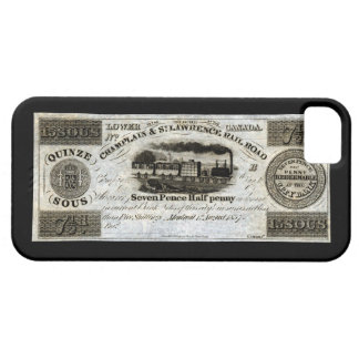 1837 Canadian Railroad Currency iPhone 5 Cases