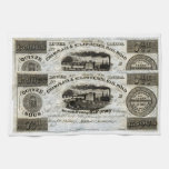 1837 Canadian Railroad Currency Towel