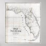 1837 Florida Map Poster