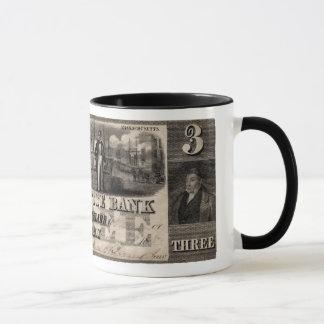 1837 Lafayette Bank Three Dollar Note Mug