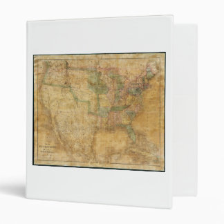 1839 David H. Burr Wall Map of the United States Binder