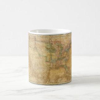 1839 David H. Burr Wall Map of the United States Coffee Mug