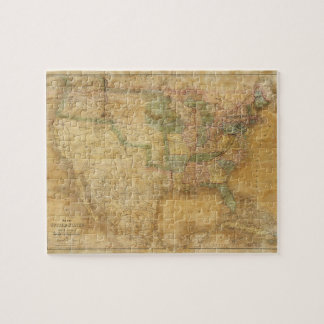 1839 David H. Burr Wall Map of the United States Jigsaw Puzzle