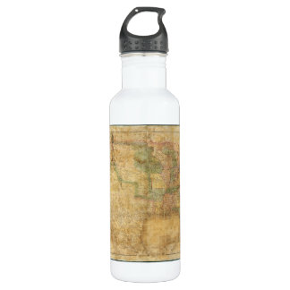 1839 David H. Burr Wall Map of the United States 24oz Water Bottle
