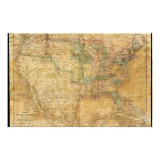 1839 David H. Burr Wall Map of the United States Stationery