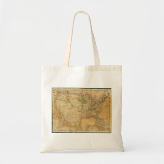 1839 David H. Burr Wall Map of the United States Tote Bag