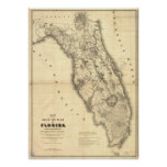 1839 Florida Map Posters