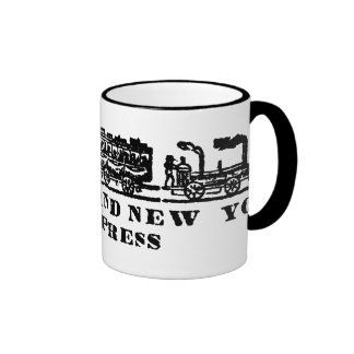 1843 Newark + New York Express Railroad Ringer Mug