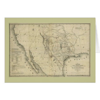 1844  Map of Texas and the Countries Adjacent Card