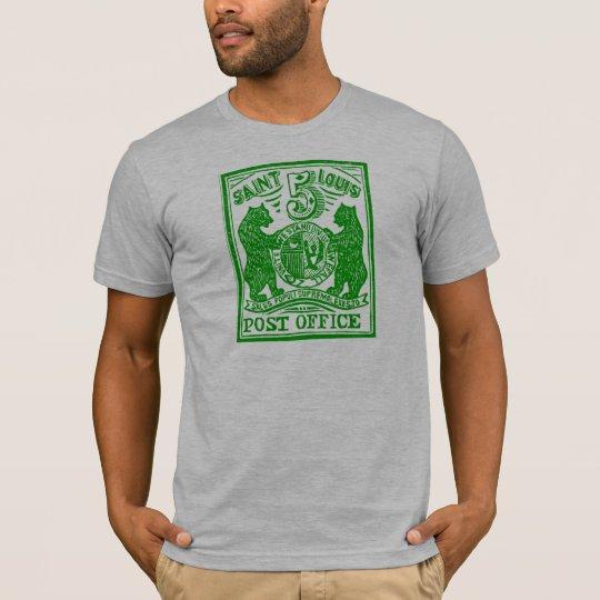 1845 St. Louis Bears Stamp, green T-Shirt
