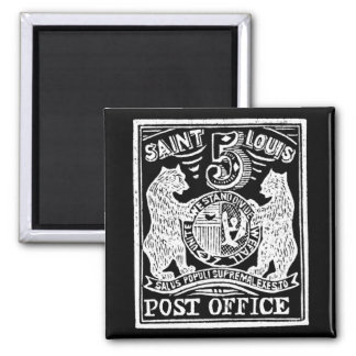 1845 St. Louis Bears Stamp, white Refrigerator Magnet