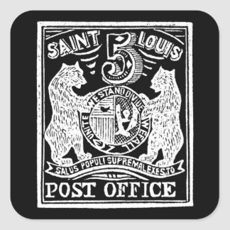 1845 St. Louis Bears Stamp, white Square Sticker